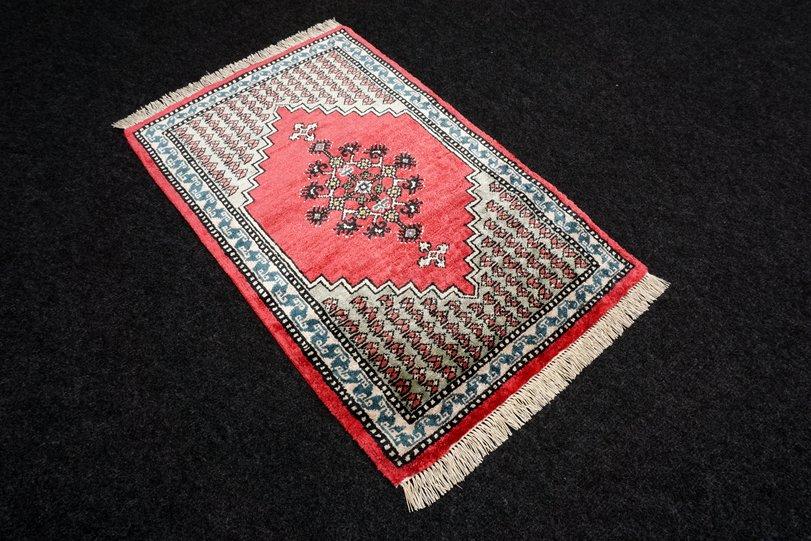 Seidenteppich Berber 64 x 41 cm Orient Teppich Seide