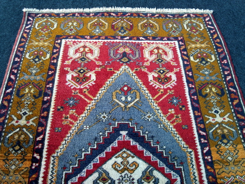 Ancien âge Tapis oriental yahyali 158 x 93 cm Anatolie