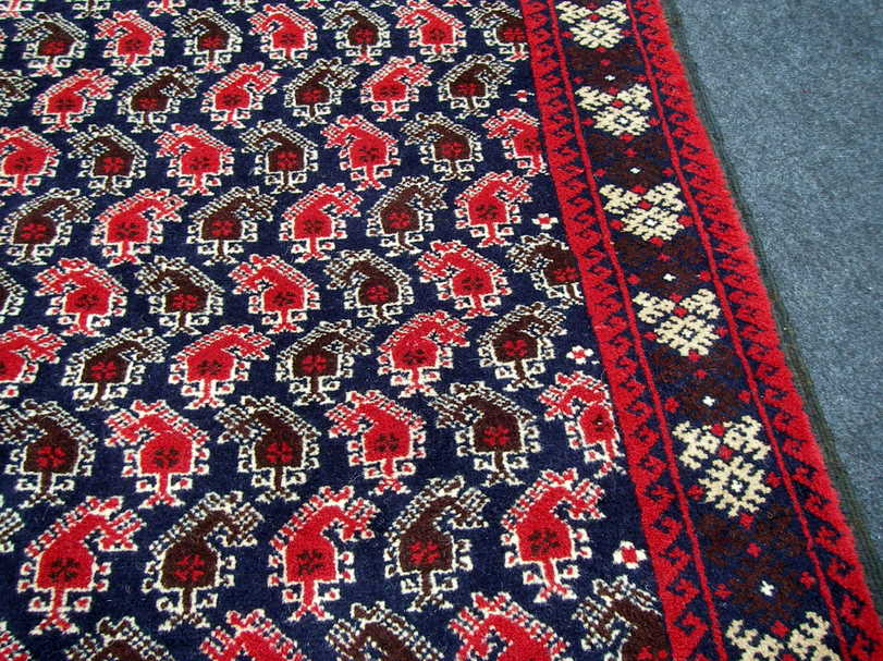 Orient Teppich Belutsch 168 x 86 cm Boteh Termeh Muster