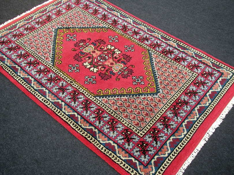 orient teppich berber marokko 182 x 123 cm rot handgekn pft carpet rug tappeto ebay. Black Bedroom Furniture Sets. Home Design Ideas