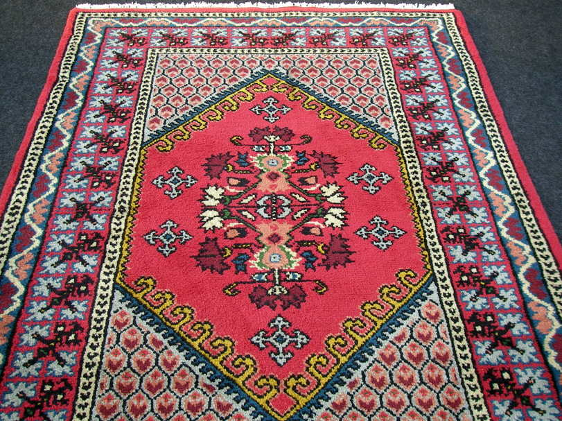 orient teppich berber 182 x 123 cm marokko rot handgekn pft carpet rug tappeto ebay. Black Bedroom Furniture Sets. Home Design Ideas